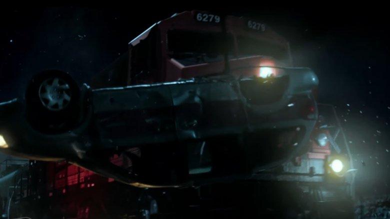 Power Rangers train crash