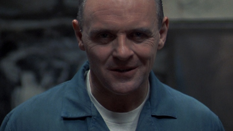 Anthony Hopkins as Dr. Hannibal Lecter in The Silence Of The Lambs, 1991.