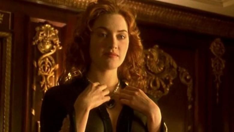 Kate Winslet nude drawing Titanic scene handmade vintage