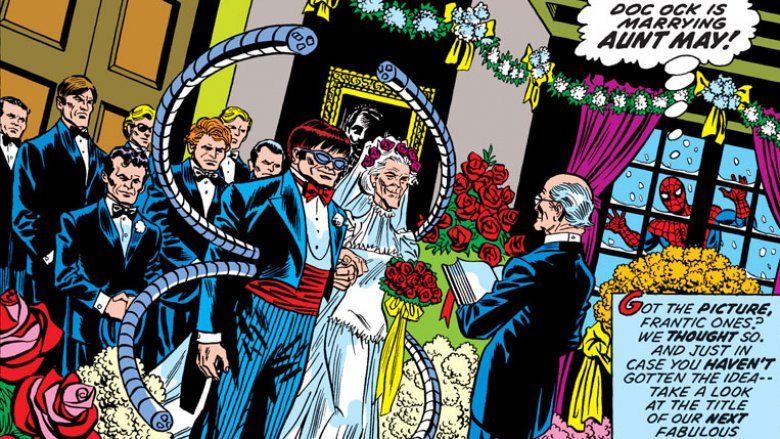 Aunt May marries Doctor Octopus