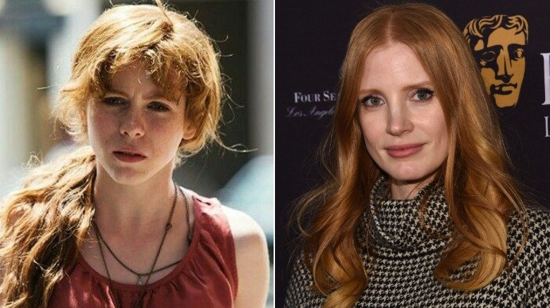 Sophia Lillis and Jessica Chastain