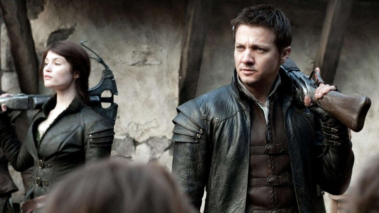 Gemma Arterton and Jeremy Renner in Hansel and Gretel: Witch Hunters