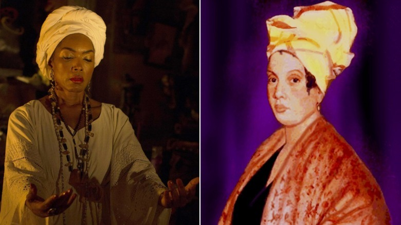 Marie Laveau on American Horror Story and a painting of the real Marie Laveau
