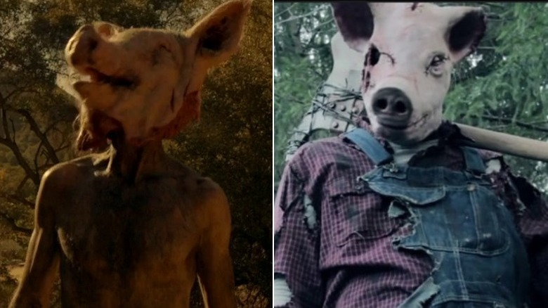 Piggy Piggy in American Horror Story and the Pigman from Holland Road (2015)