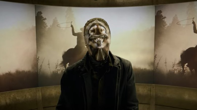 An unidentified masked character appearing in HBO's Watchmen teaser trailer