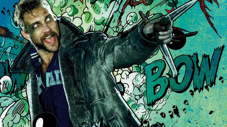 Jai Courtney as Captain Boomerang in promo art for Suicide Squad