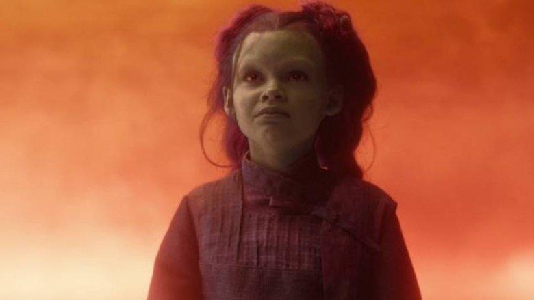 Child Gamora in Avengers: Infinity War