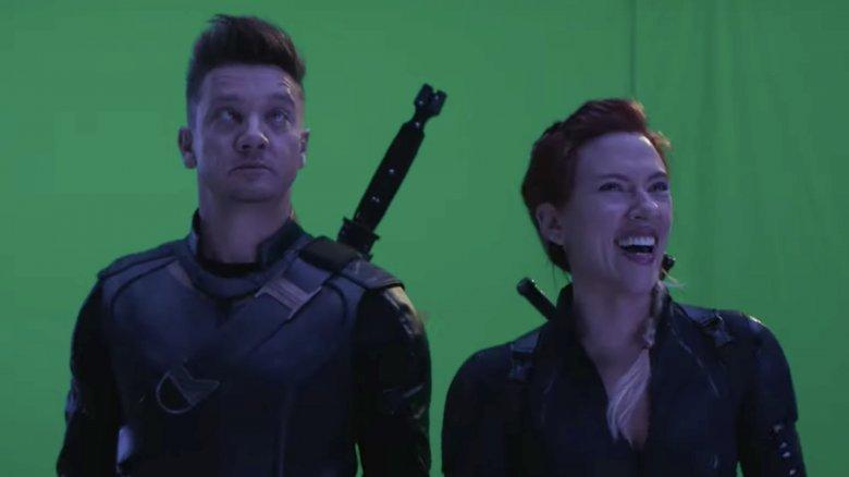 Hawkeye Jeremy Renner Vingadores Endgame blooper vesgo