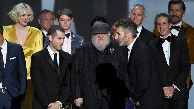Cast's Emmy win.