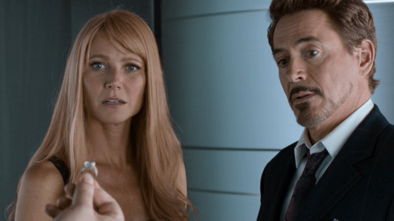 Gwyneth Paltrow and Robert Downey Jr. in Spider-Man: Homecoming