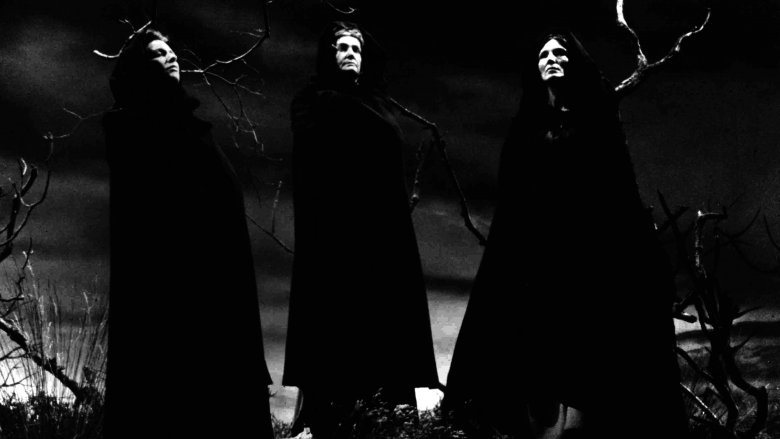 Brainerd Duffield, Lurene Tuttle, and Peggy Webber as the Weird Sisters in 'Macbeth' (1948)