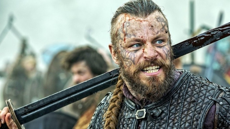 King Harald Finehair in battle