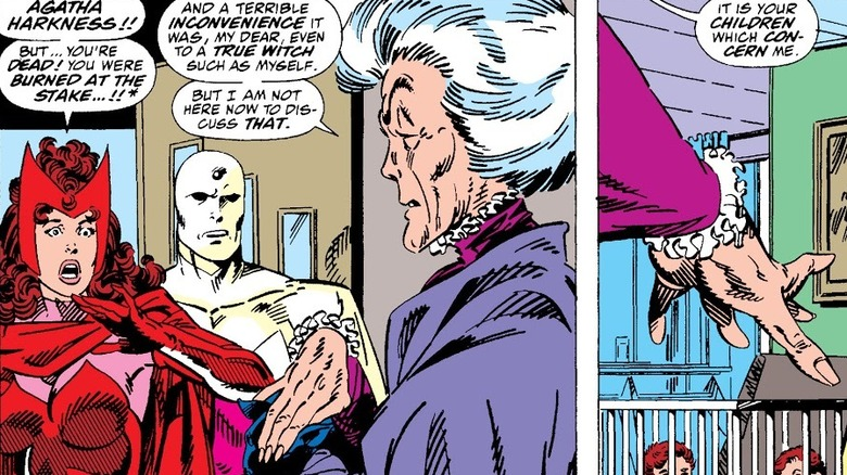 Agatha Harkness and Scarlet Witch talk
