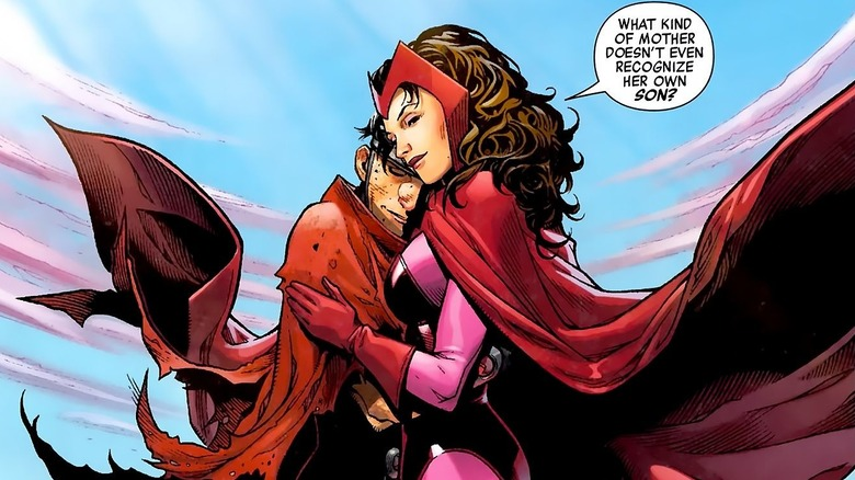 Scarlet Witch embracing Wiccan