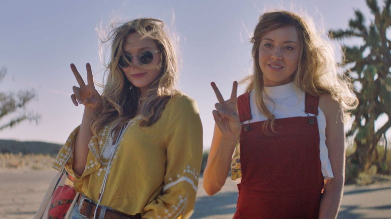 Elizabeth Olsen and Aubrey Plaza in Ingrid Goes West