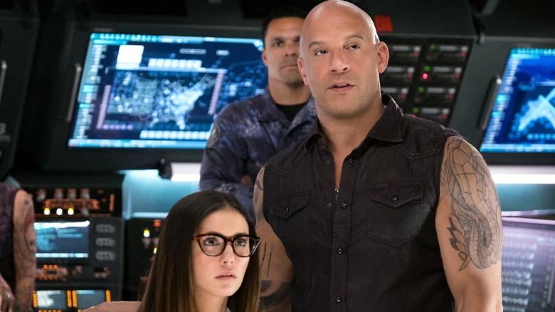 Vin Diesel and Nina Dobrev in xXx: The Return of Xander Cage