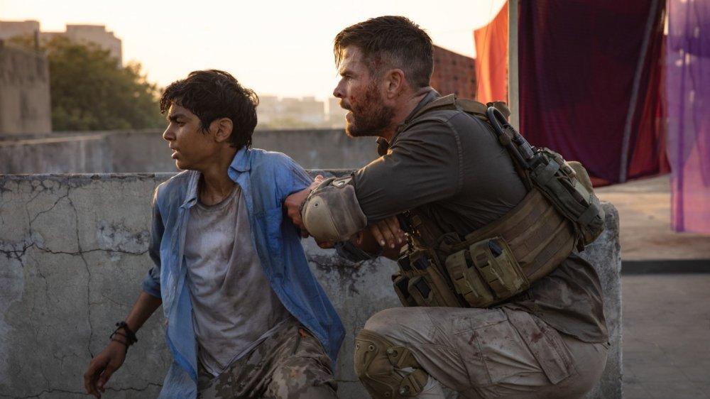 Randeep Hooda and Chris Hemsworth in Extraction