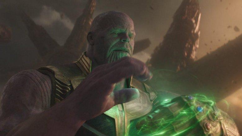 Thanos receives the Time Stone