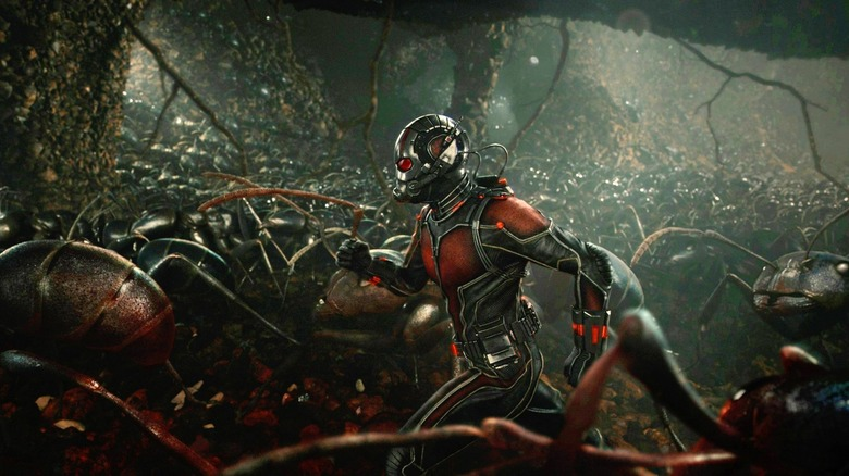 Ant-Man with ants