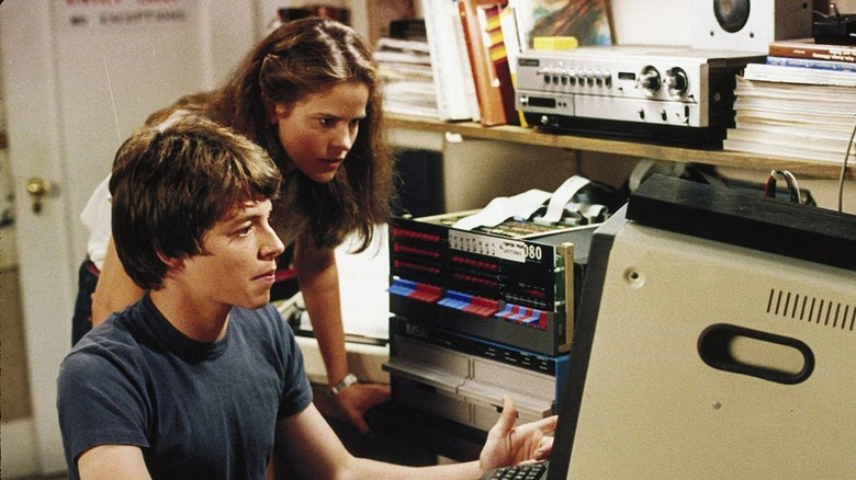 Matthew Broderick and Ally Sheedy in WarGames
