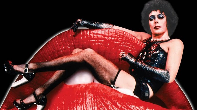Tim Curry on Rocky Horror Picture Show poster