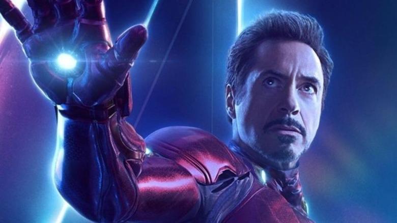 RDJ as Iron Man in promo art for Avengers: Endgame