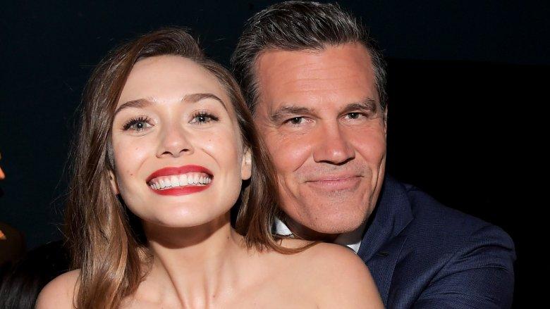 Elizabeth OIsen and Josh Brolin at the premiere of Avengers: Infinity War