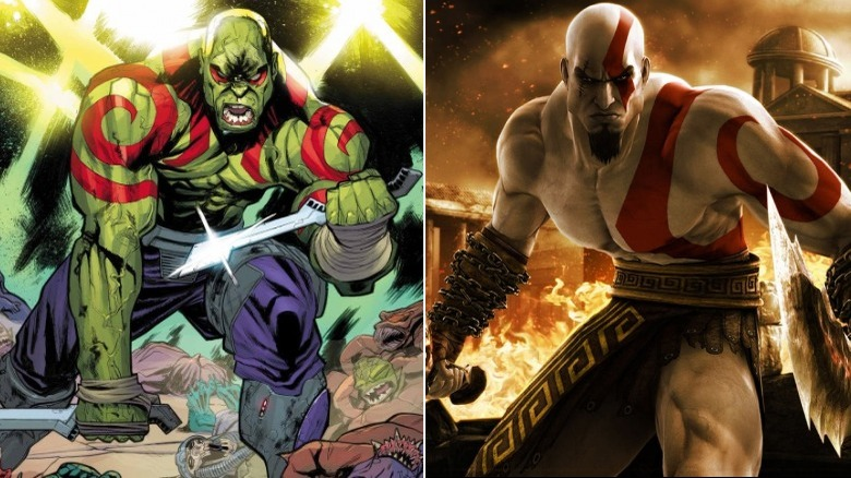 Drax the Destroyer and Kratos