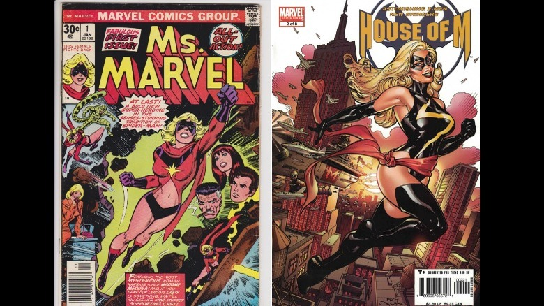 Art by John Romita (Left) and Terry Dodson (Right)
