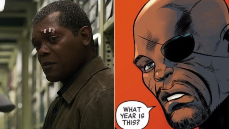 Samuel L. Jackson as Nick Fury/Art by Lee Ferguson