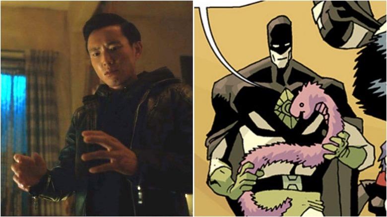 "Justin H. Min as Ben in ""The Umbrella Academy"" series / Ben by Gabriel Ba in ""The Umbrella Academy"" comic"