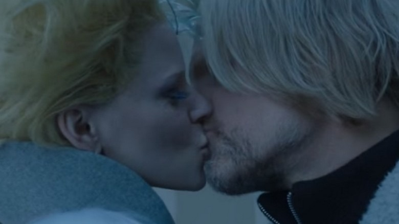 Woody Harrelson and Elizabeth Banks in The Hunger Games: Mockingjay -- Part 2