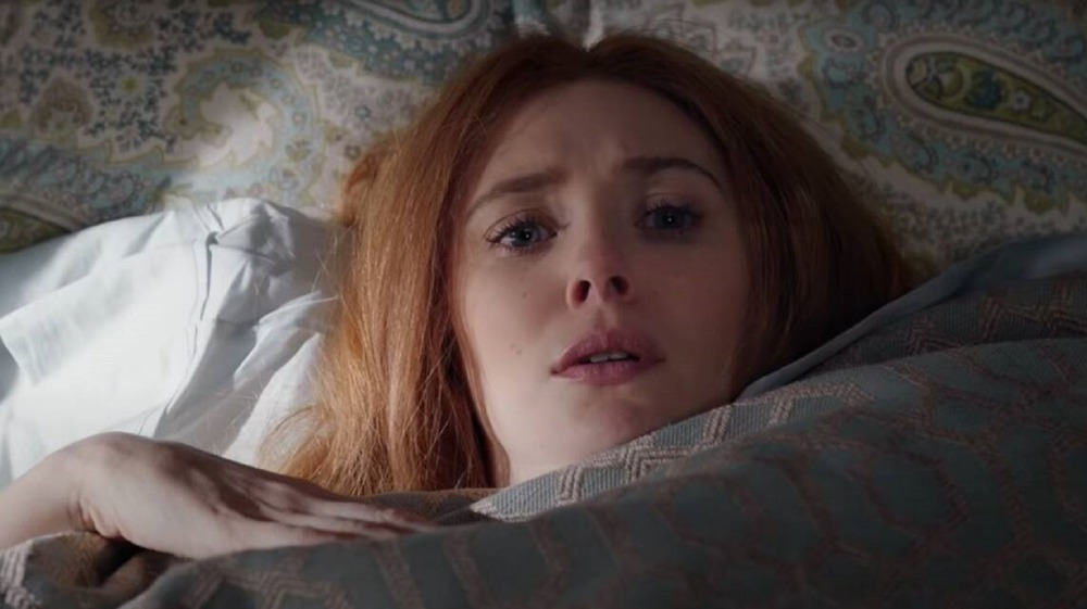 Wanda hides in bed during WandaVision's seventh episode