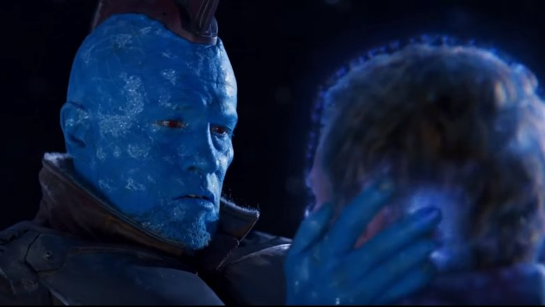 Michael Rooker and Chris Pratt in Guardians of the Galaxy Vol. 2