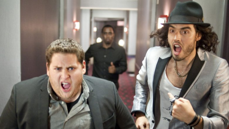 Jonah Hill, Sean Combs, and Russell Brand in Get Him to the Greek