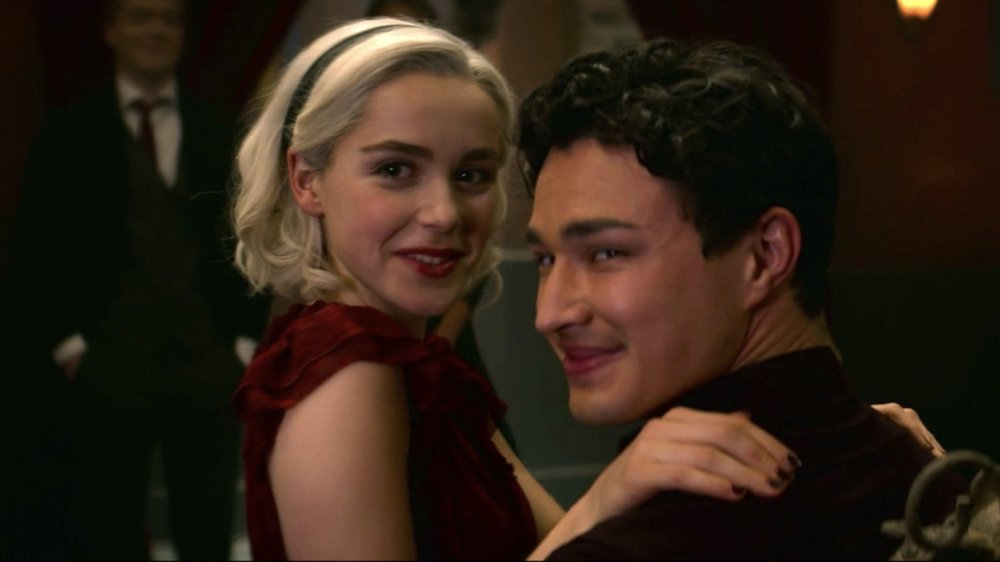 Sabrina Spellman and Harvey Kinkle in The Chilling Adventures of Sabrina