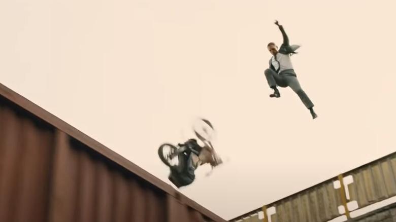 Daniel Craig leaps
