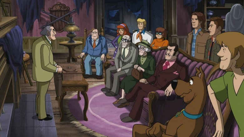 The Scooby gang and the Winchester problems from the Scoobynatural episode of Supernatural