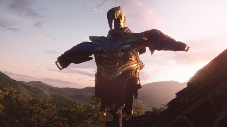 Thanos' armor scarecrow in Avengers: Endgame