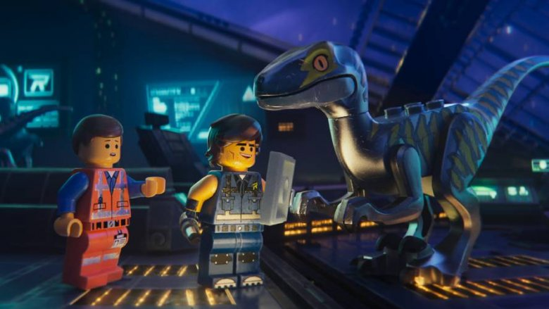 Rex, Emmet, and a raptor