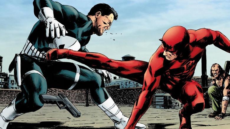 Daredevil fighting Punisher
