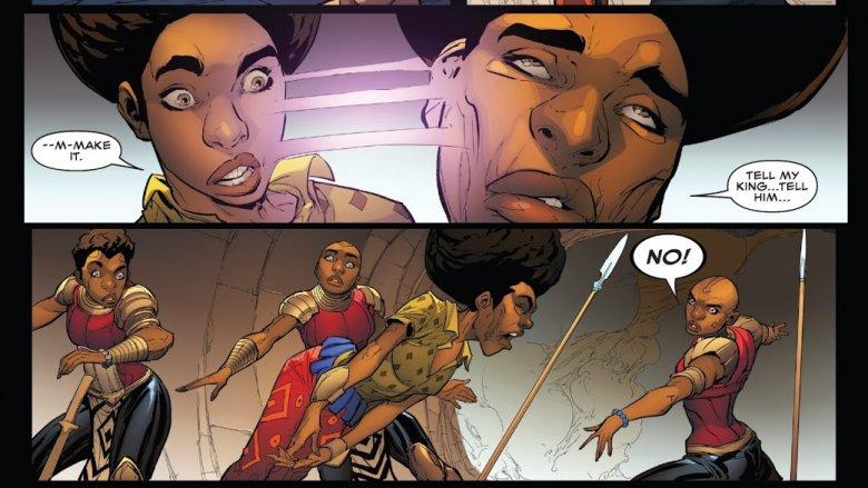 Nakia's death from Wakanda Forever: Avengers #1