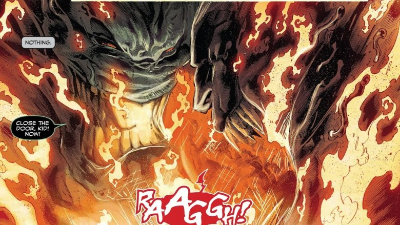 Rex in the furnace with Knull