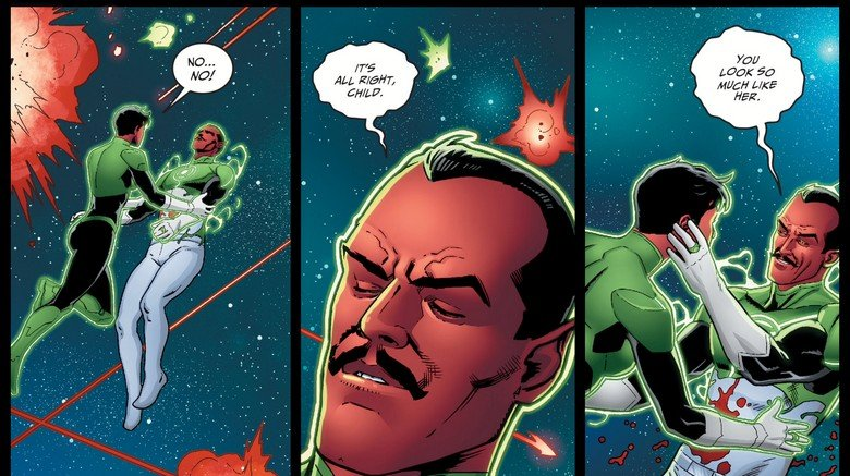 The death of Sinestro