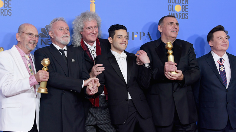 Producer Graham King, star Rami Malek, and Queen
