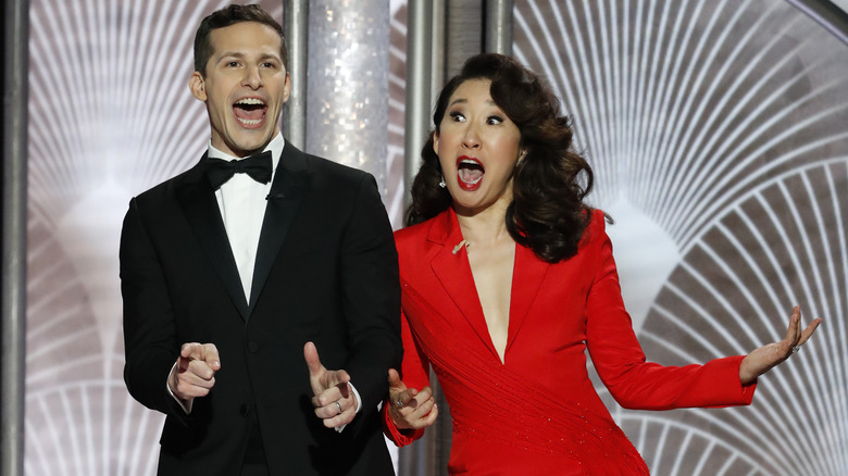 Sandra Oh and Andy Samberg
