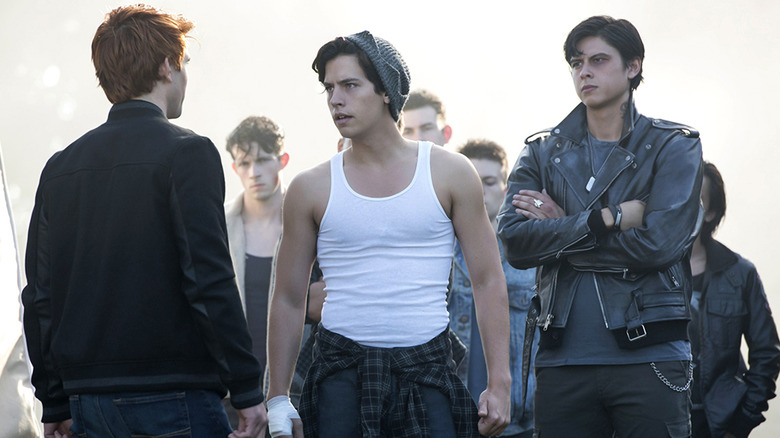 KJ Apa and Cole Sprouse in Riverdale