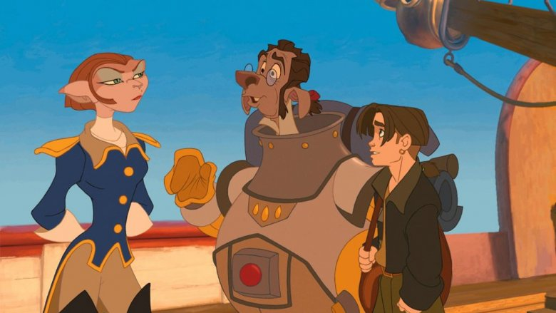Jim Hawkins and some of Treasure Planet's alien characters
