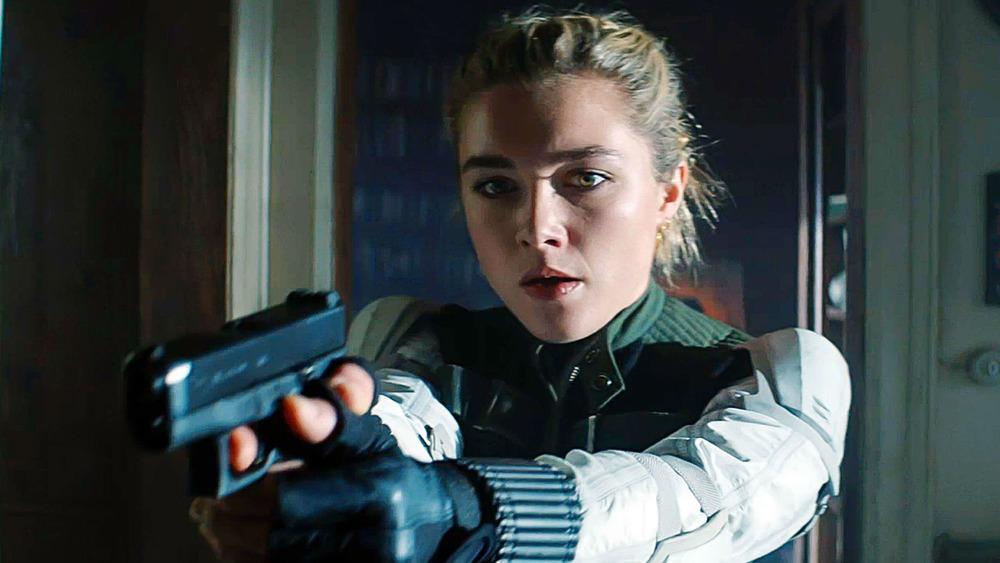 Yelena holding gun