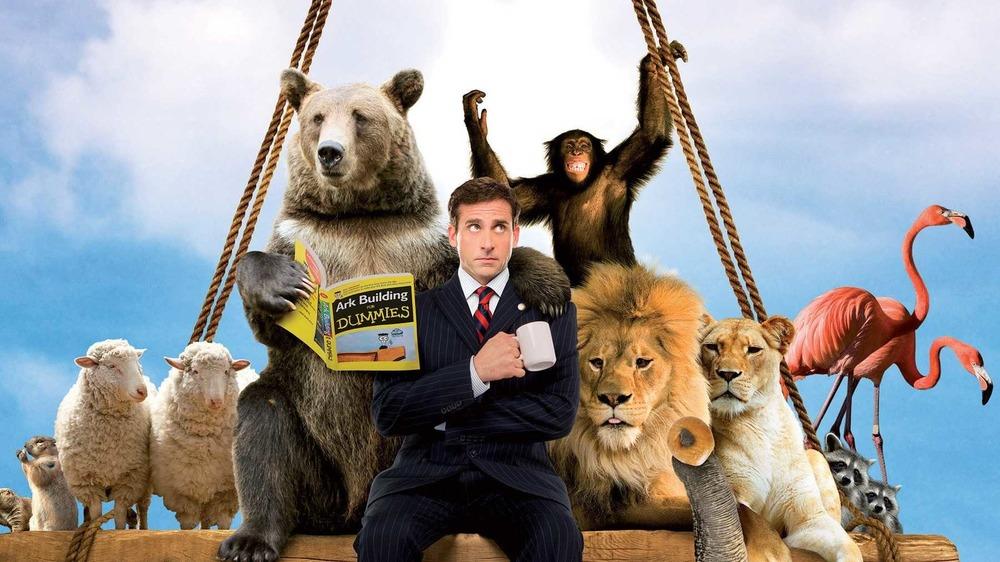 Evan Baxter with animals